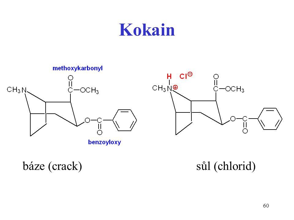 60 Kokain báze (crack) sůl (chlorid)