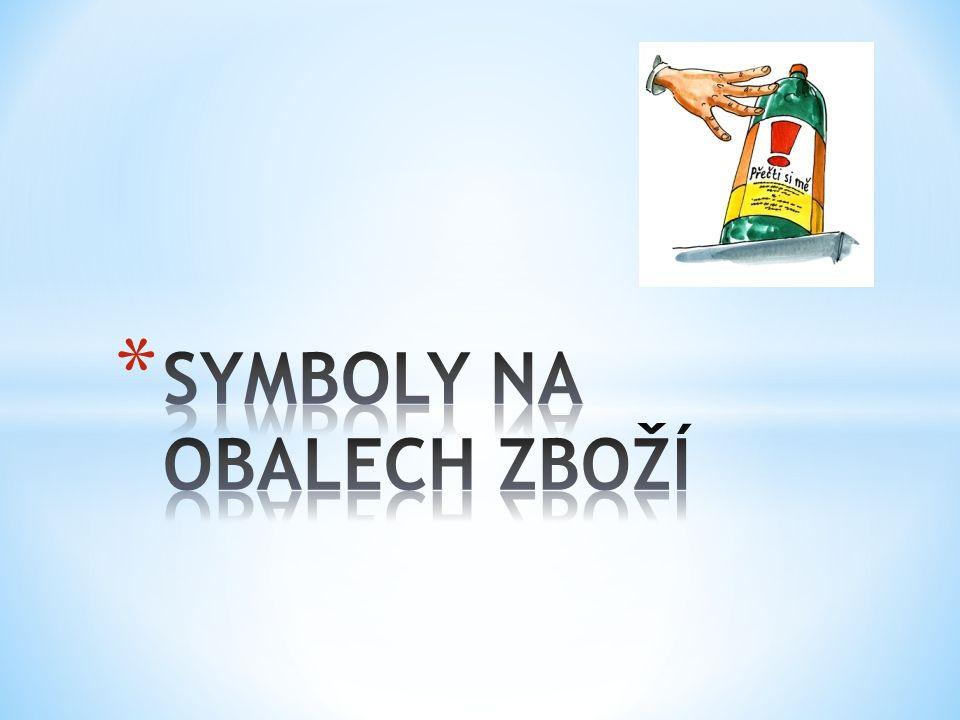 1.PROČ JSOU NA OBALECH UVEDENY SYMBOLY. 2. CO ZNAČÍ TENTO SYMBOL.