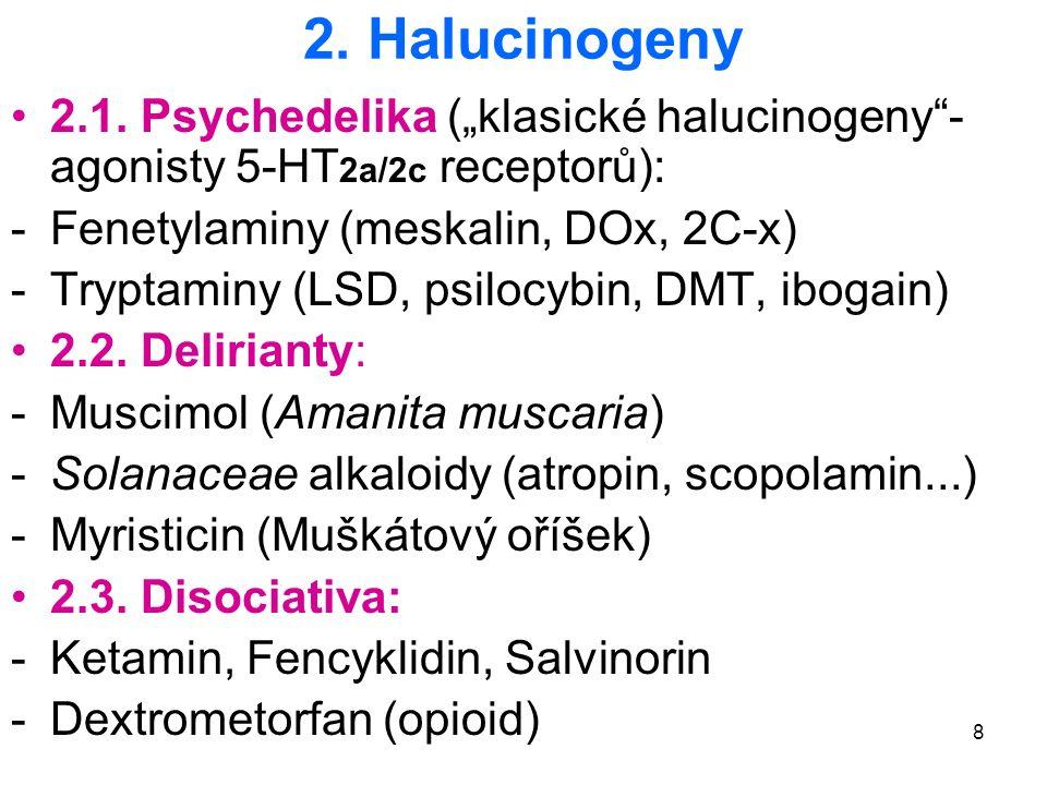 """19 Selectivní serotonin uvolňující agens (SSRA) MDMA (""""Extáze ), MDxx, PMA (""""Chicken Powder , """"Dr."""