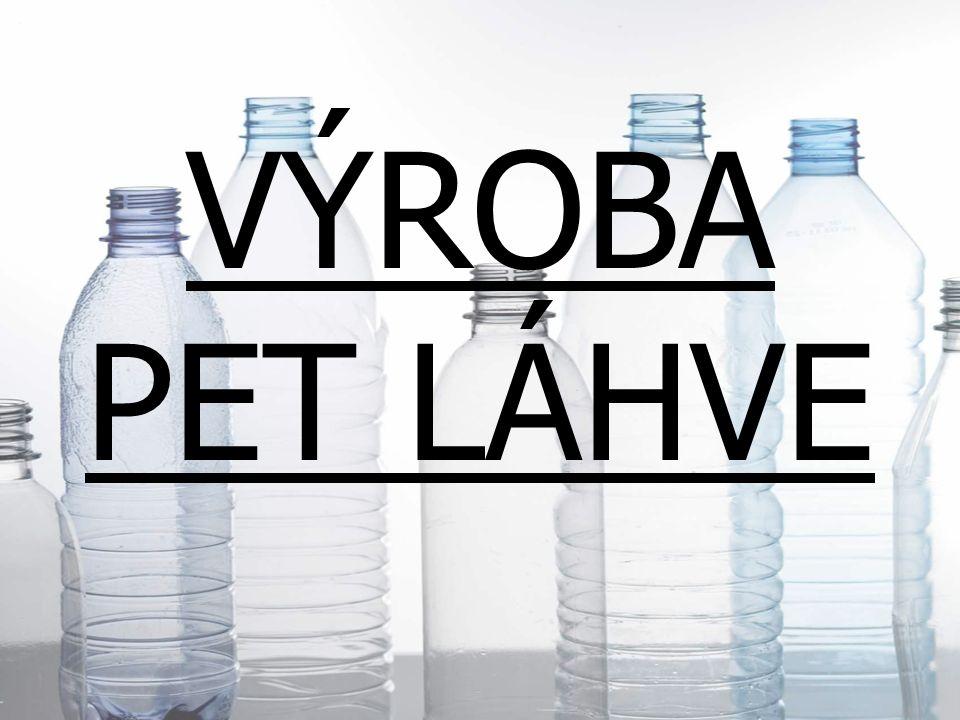 Pet láhev se vyrábí z polyethylentereftalátu neboli PET.