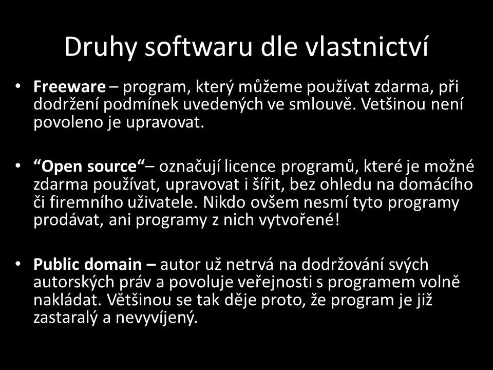 """PODMÍNKY UŽÍVÁNÍ SOFWARU Nejtvrdší jsou podmínky pro používání """"komerčních programů ."""