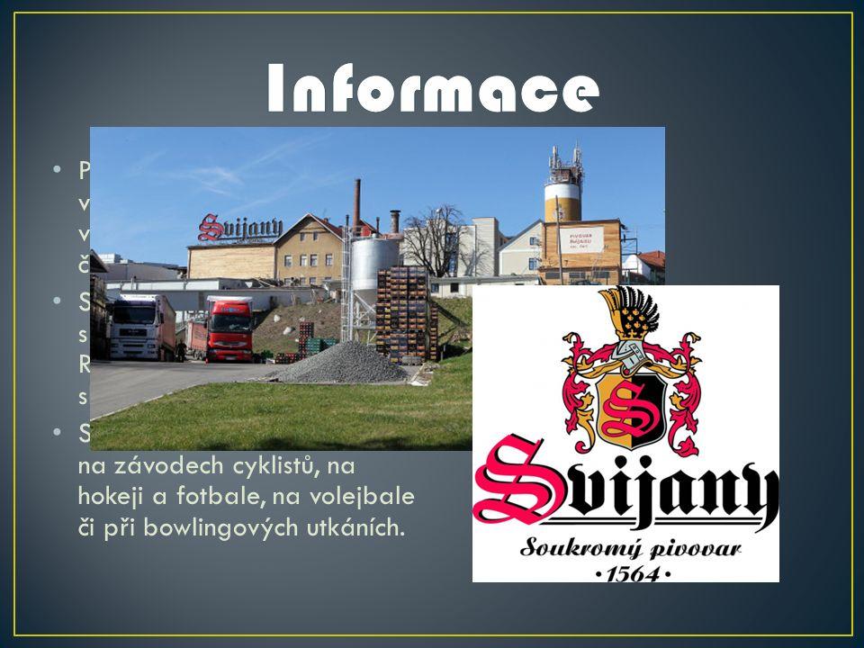 Pivovar Svijany je se svým výstavem 385 000 hektolitrů v roce 2009 šestým největším českým pivovarem.