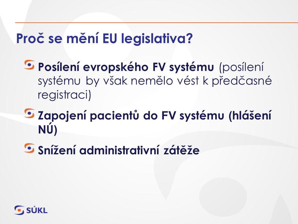Proč se mění EU legislativa.