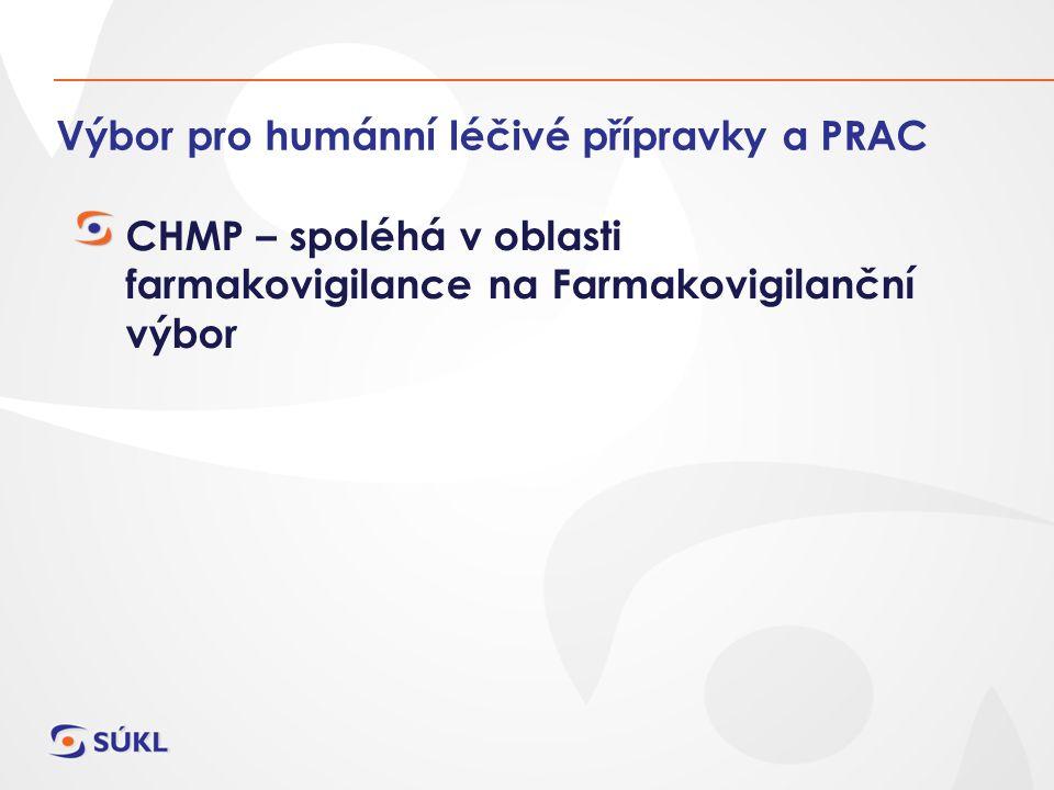 Výbor pro humánní léčivé přípravky a PRAC CHMP – spoléhá v oblasti farmakovigilance na Farmakovigilanční výbor