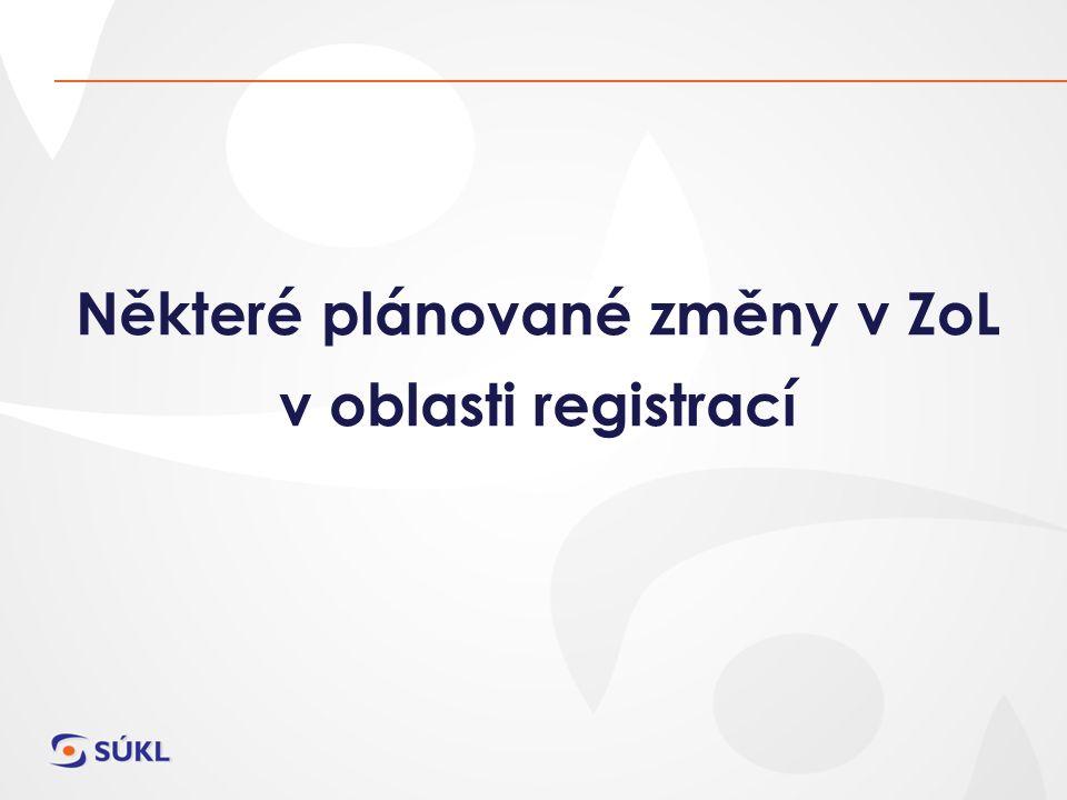 Některé plánované změny v ZoL v oblasti registrací