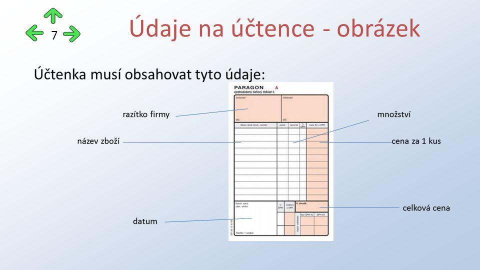 Údaje na účtence - obrázek 7