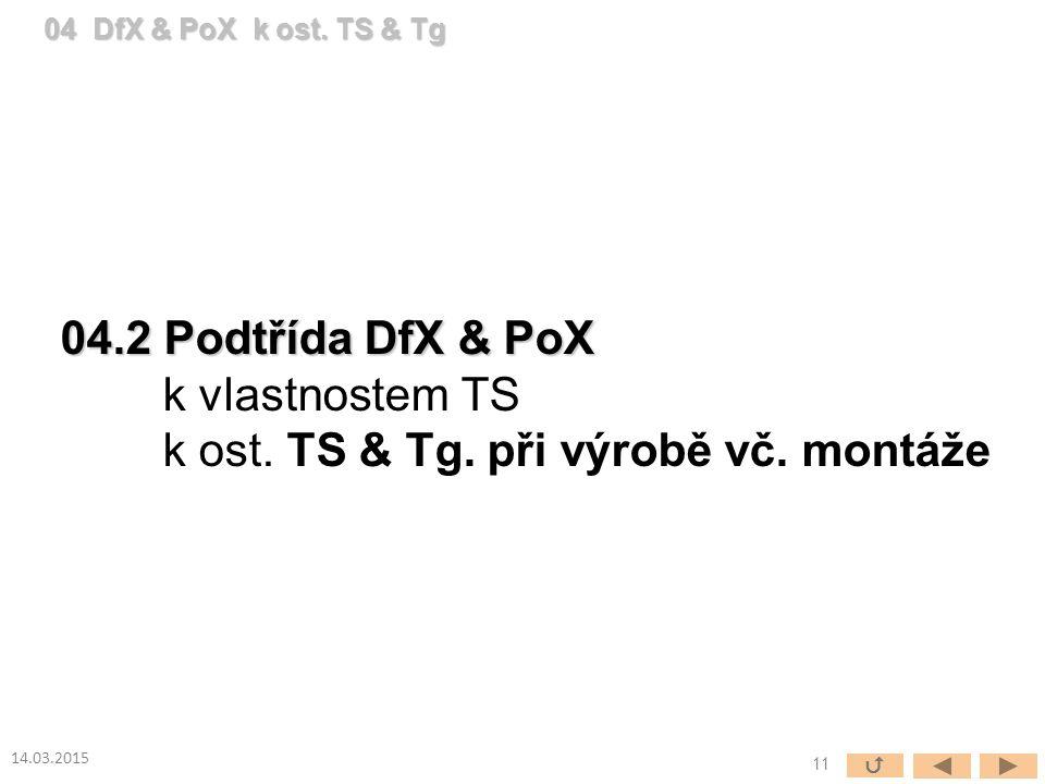 04.2 Podtřída DfX & PoX k vlastnostem TS k ost. TS & Tg.