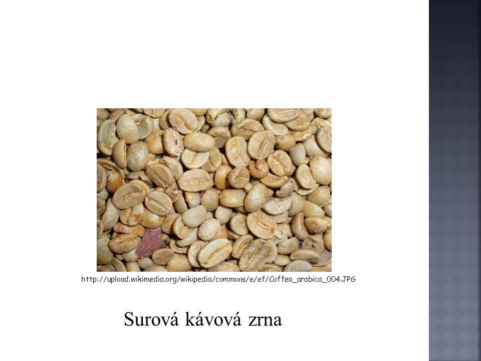 o Vytříděná káva se balí do pytlů o Pytle jsou označeny: zemí původu popřípadě přístavem jakostí a hmotností o Největší producenti kávy jsou: Brazílie Mexiko Indie Kolumbie