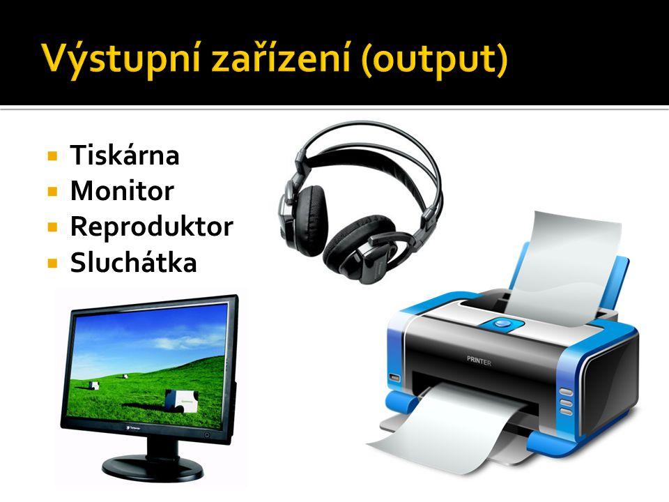  klávesnice  myš  scanner  mikrofon  webová kamera  snímač čárového kódu  TV karta