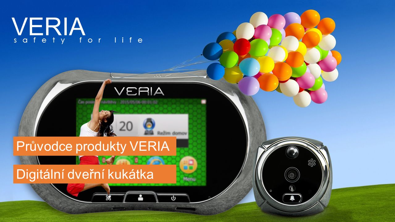 Model: DDK 5090 GSM CZ Veďte komunikaci s návštěvníky před vašimi dveřmi kdykoliv a odkudkoliv SPECIFIKACE OBSAH BALENÍ Digitální dveřní kukátko Displej3.5 dotyková obrazovka SenzorCMOS senzor 2.0 mega pixel Zorný úhel Formát souborůJPEG,AVI UkládáníMicro SD karta, do 32GB Napájení 3,7 VLithiový akumulátor 1500 + 250 mAh Otvor ve dveřích12 – 58 mm Tloušťka dveří35 – 110 mm IR noční viděníPodporováno MonitoringPIR detekce pohybu InterkomPodporován Vzdálené ovládáníGSM komunikátor UpozorněníSMS/MMS 1* Vnitřní část1* Nabíjecí pouzdro 1* Vnější část1* Adaptér 1* Držák1* USB kabel 4* Montážní šroubky1* Akumulátor 1* Uživatelský manuál