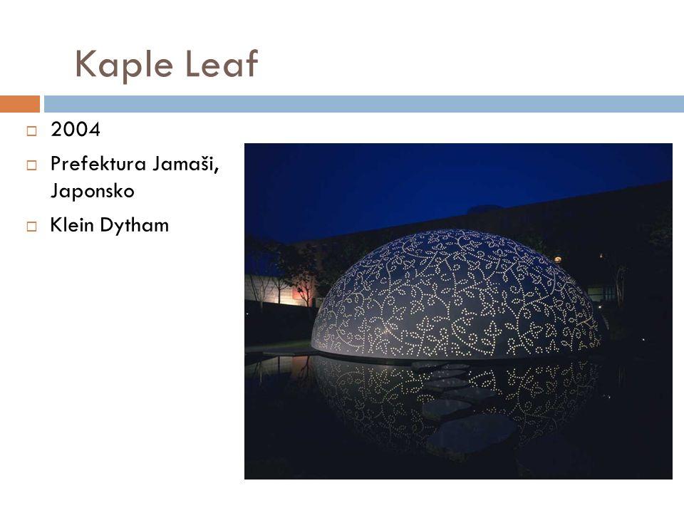 Kaple Leaf  2004  Prefektura Jamaši, Japonsko  Klein Dytham