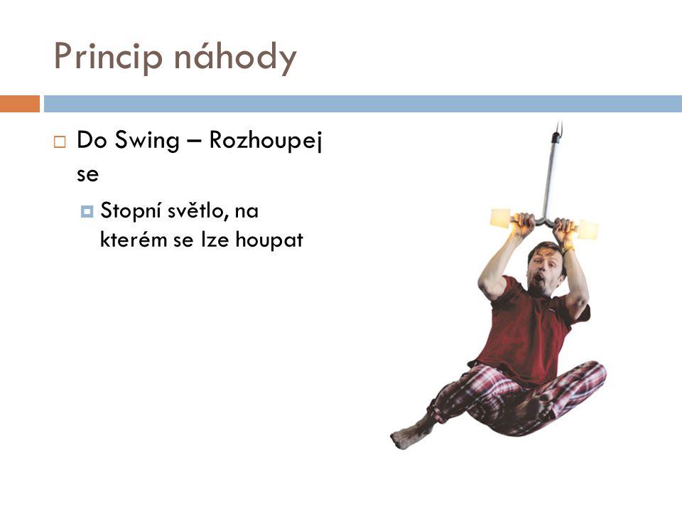 Princip náhody  Do Swing – Rozhoupej se  Stopní světlo, na kterém se lze houpat