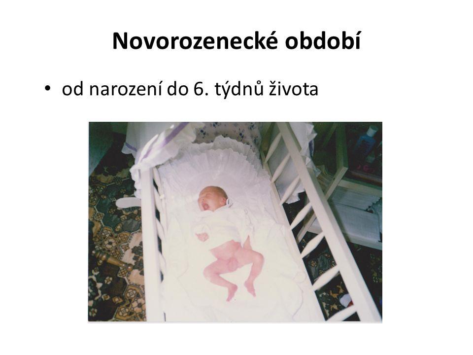 Novorozenecké období od narození do 6. týdnů života