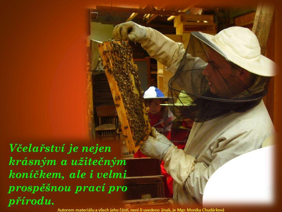 Včelařství je nejen krásným a užitečným koníčkem, ale i velmi prospěšnou prací pro přírodu. Autorem materiálu a všech jeho částí, není-li uvedeno jina