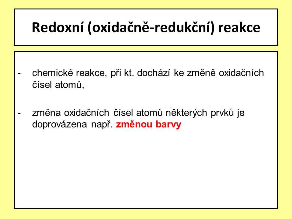 -chemické reakce, při kt.
