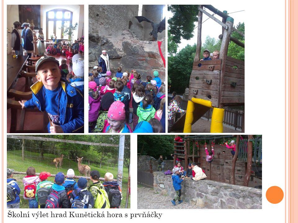 Školní výlet hrad Kunětická hora s prvňáčky
