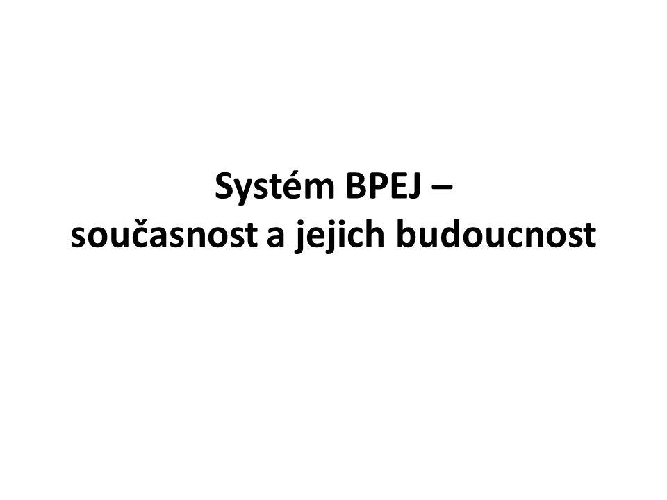 Systém BPEJ – současnost a jejich budoucnost