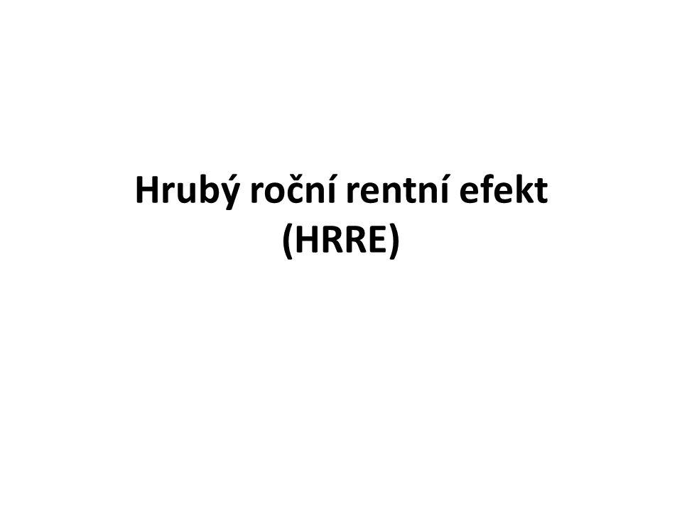 Hrubý roční rentní efekt (HRRE)