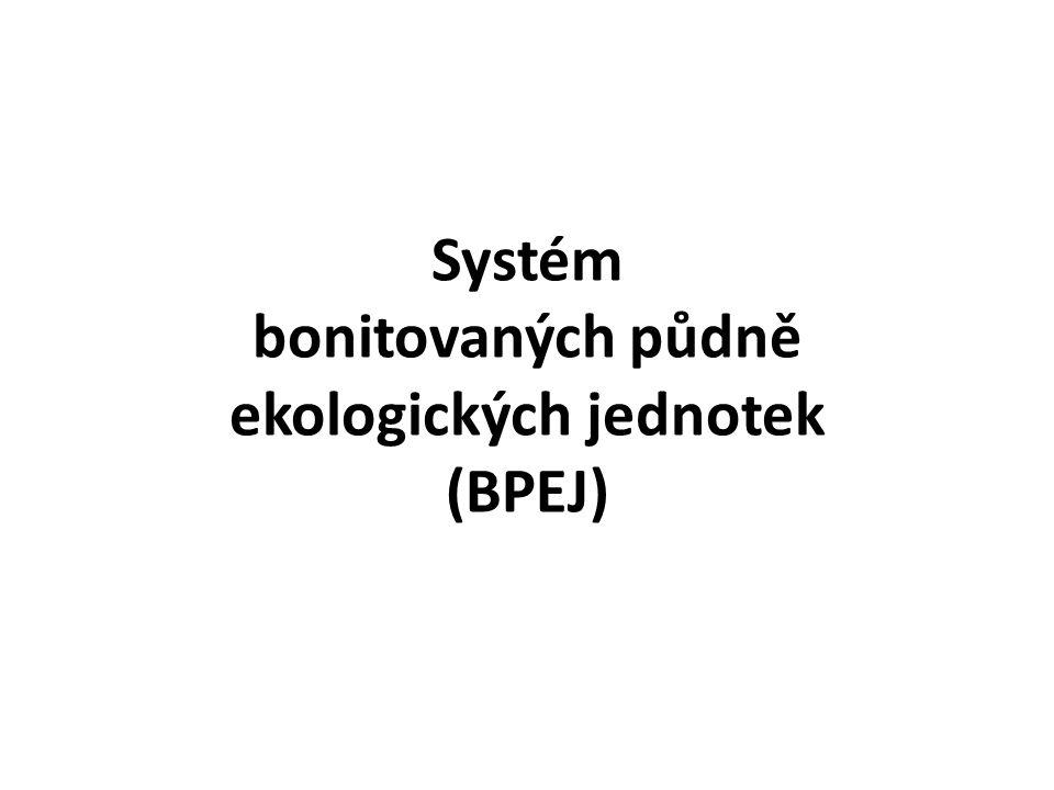 Systém bonitovaných půdně ekologických jednotek (BPEJ)