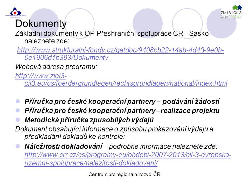 Centrum pro regionální rozvoj ČR Pobočka pro NUTS II Severozápad Školní 1183/10, 430 01 Chomutov Kontakty: Ing.