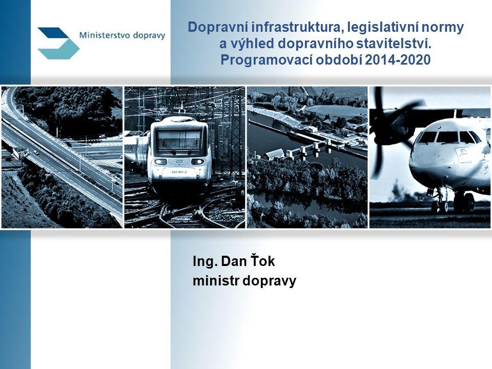 Rozvoj železniční infrastruktury 12 Síť drah celostátních a regionálních v ČR  barevně jsou vyznačeny nejvíce připravené akce