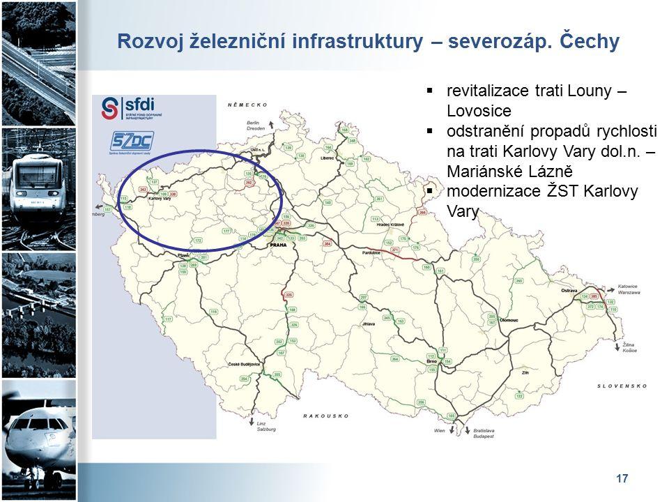 Rozvoj železniční infrastruktury – severozáp.