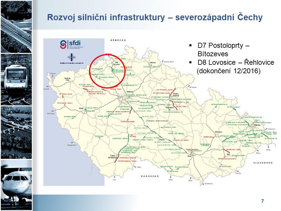 Rozvoj silniční infrastruktury – východní Čechy 8  D11 Osičky – Hradec Králové (dokončení v r.