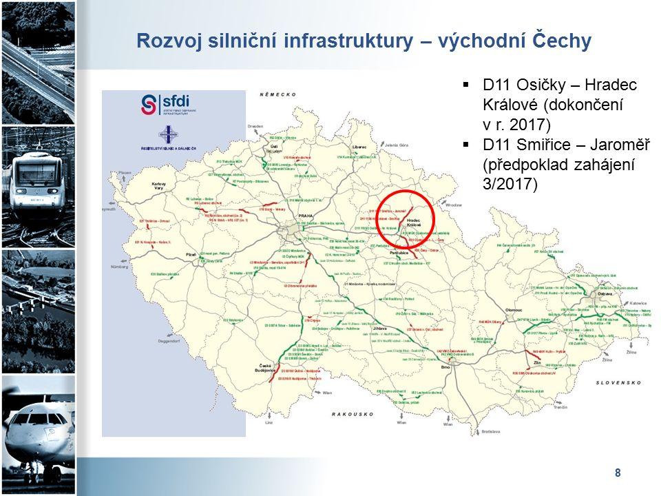 Rozvoj silniční infrastruktury – severní Morava 9  D1 Přerov – Lipník (dokončení v r.