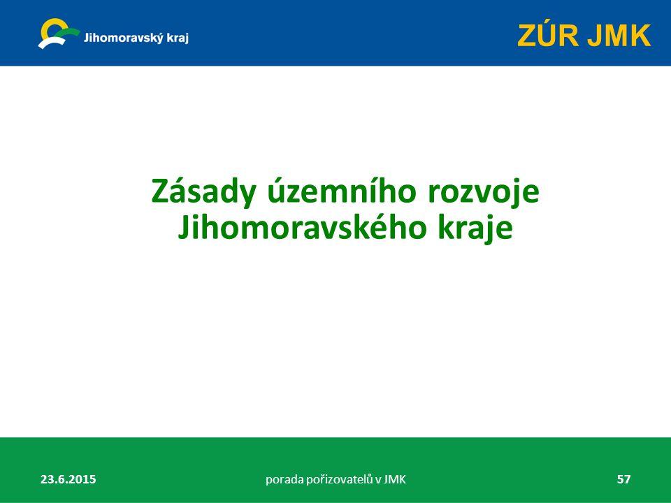 Zásady územního rozvoje Jihomoravského kraje 23.6.2015porada pořizovatelů v JMK57 ZÚR JMK