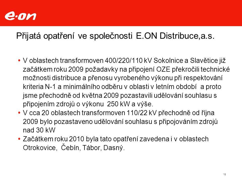 Přijatá opatření ve společnosti E.ON Distribuce,a.s.