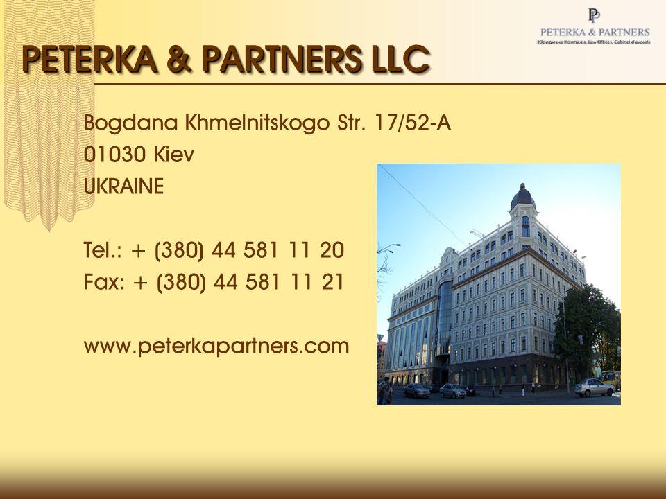 PETERKA & PARTNERS LLC Bogdana Khmelnitskogo Str.