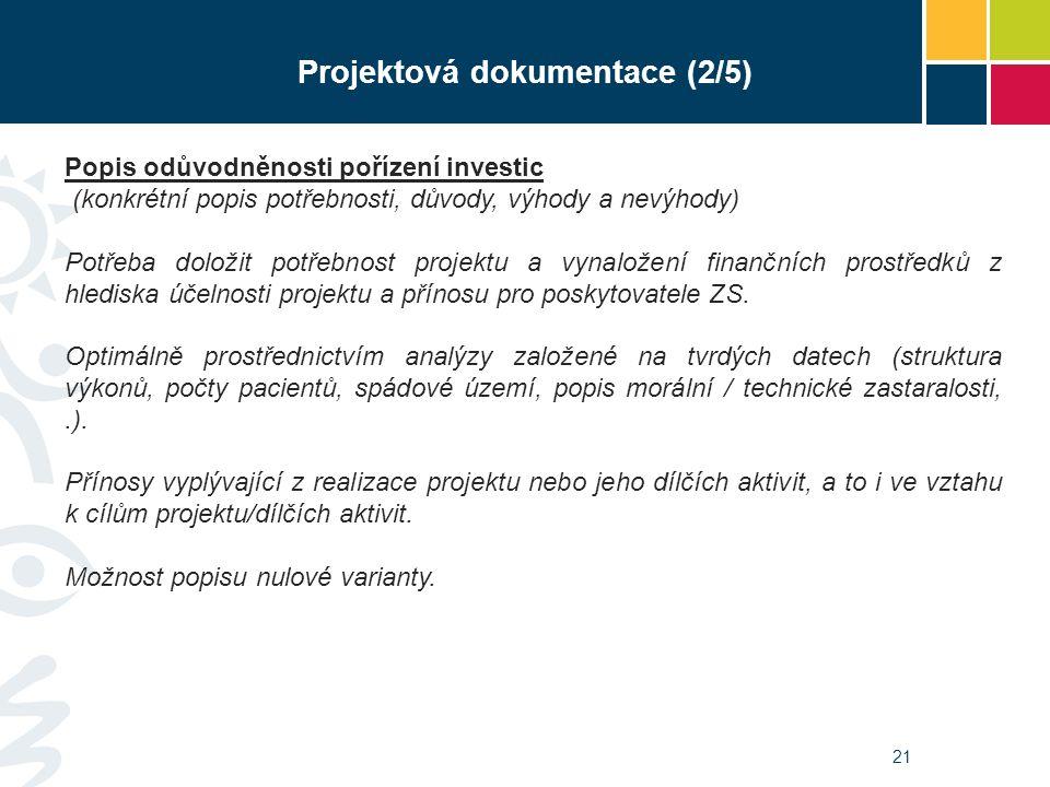 21 Popis odůvodněnosti pořízení investic (konkrétní popis potřebnosti, důvody, výhody a nevýhody) Potřeba doložit potřebnost projektu a vynaložení fin
