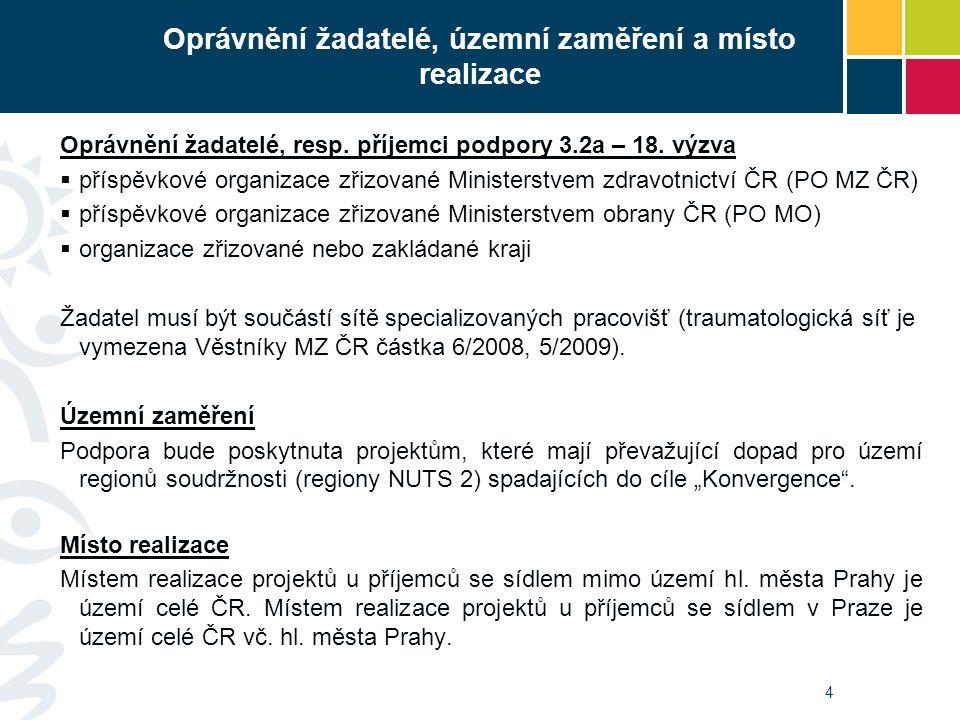 25 Stanovisko k realizaci projektu Dokládají: všichni -PO MZ ČR - souhlasné stanovisko MZ ČR s realizací projektu (formulář je přílohou č.