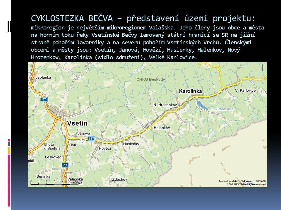 CYKLOSTEZKA BEČVA – představení území projektu: mikroregion je největším mikroregionem Valašska.