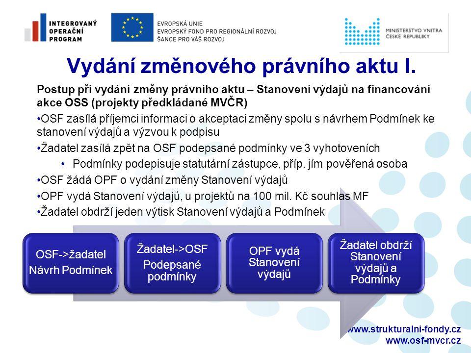 www.strukturalni-fondy.cz www.osf-mvcr.cz Postup při vyplňování MZ a ZŽoP II.
