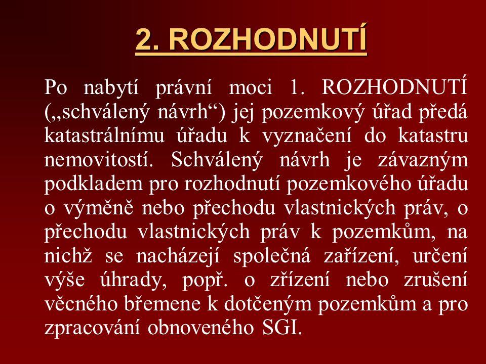 2. ROZHODNUTÍ Po nabytí právní moci 1.