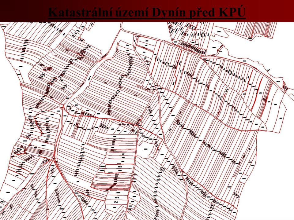 Katastrální území Dynín před KPÚ