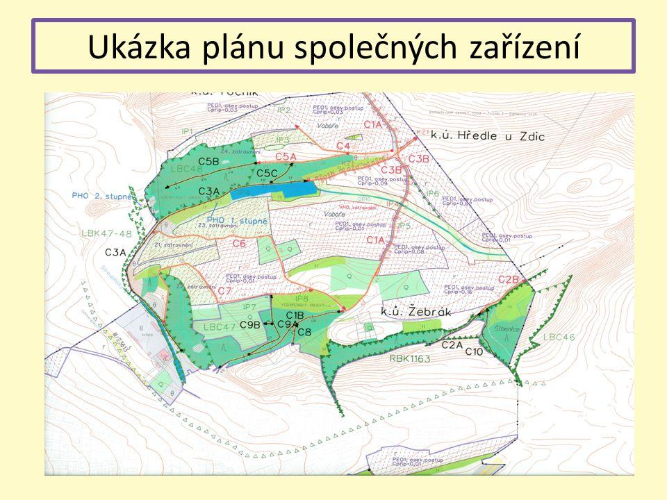 Ukázka plánu společných zařízení