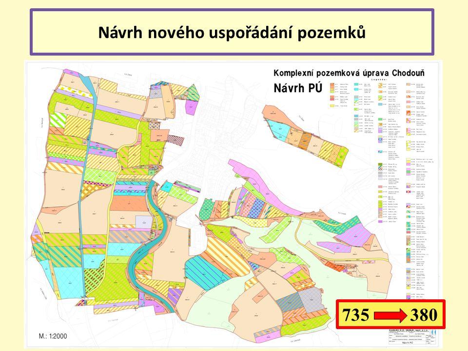 Návrh nového uspořádání pozemků 735 380