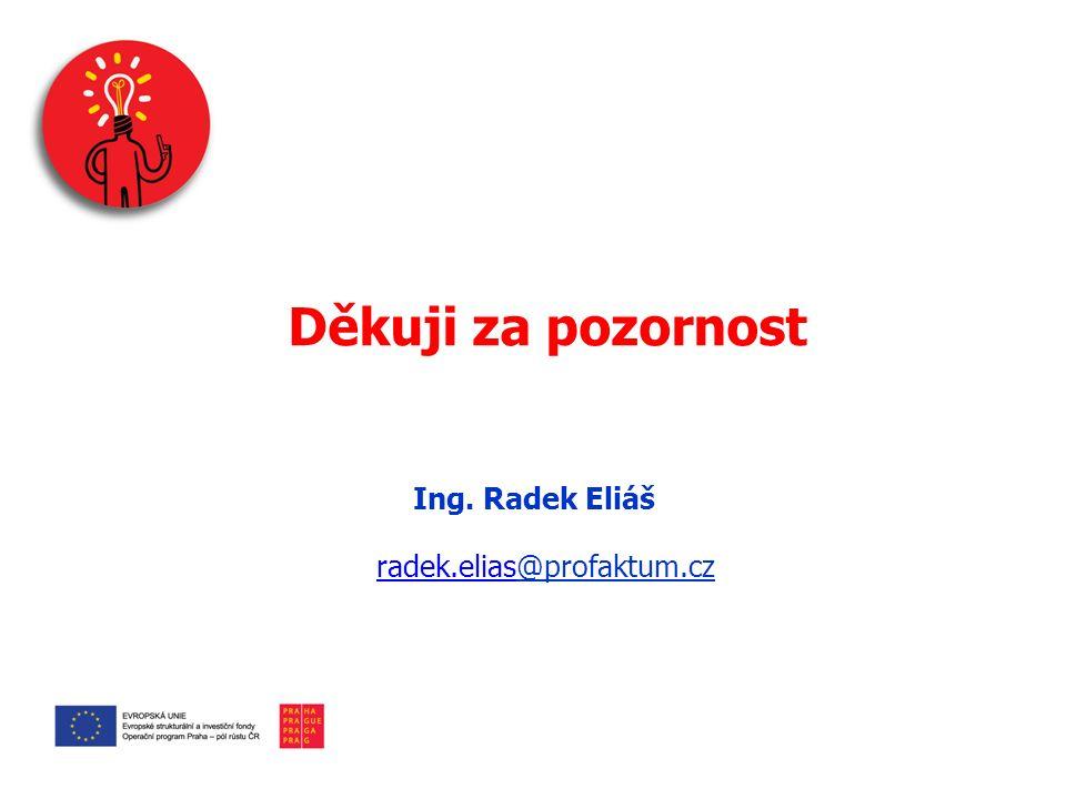 Děkuji za pozornost Ing. Radek Eliáš radek.eliasradek.elias@profaktum.cz