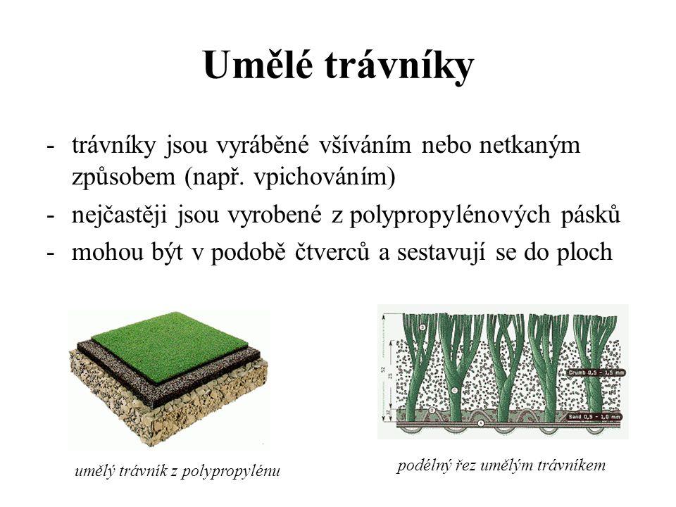 Ostatní podlahové krytiny 1)Umělé trávníky 2)Kobercové čtverce 3)Rohože 4)Koupelnové soupravy