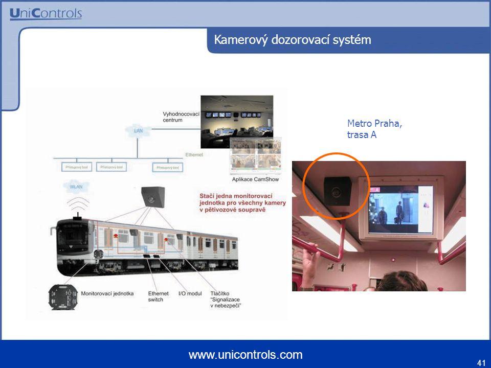 41 www.unicontrols.com Metro Praha, trasa A Kamerový dozorovací systém
