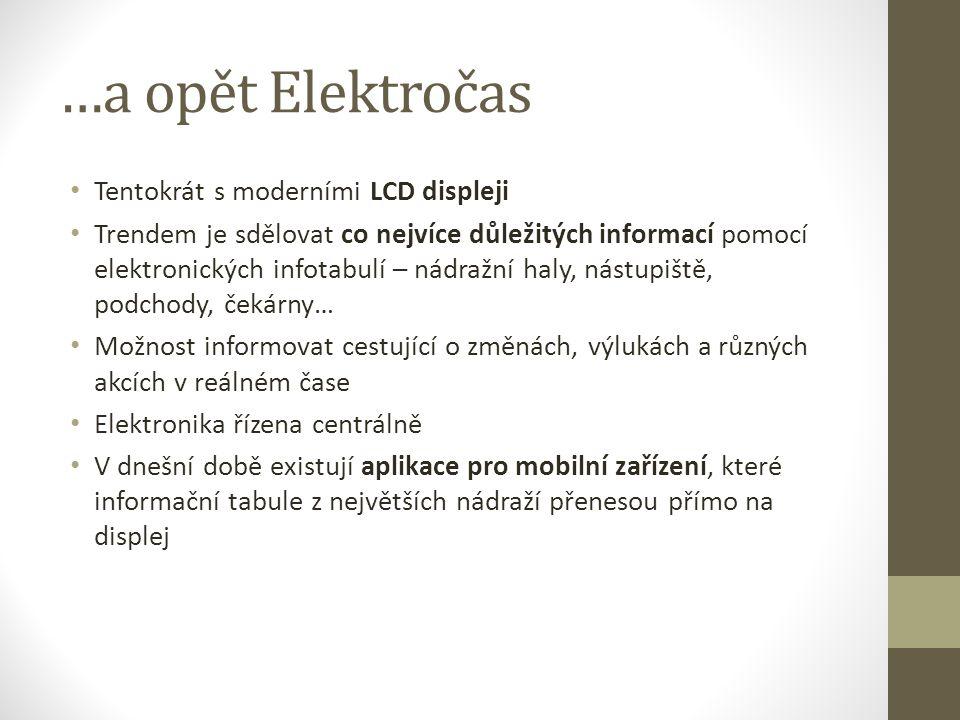 LCD tabule firmy Elektročas