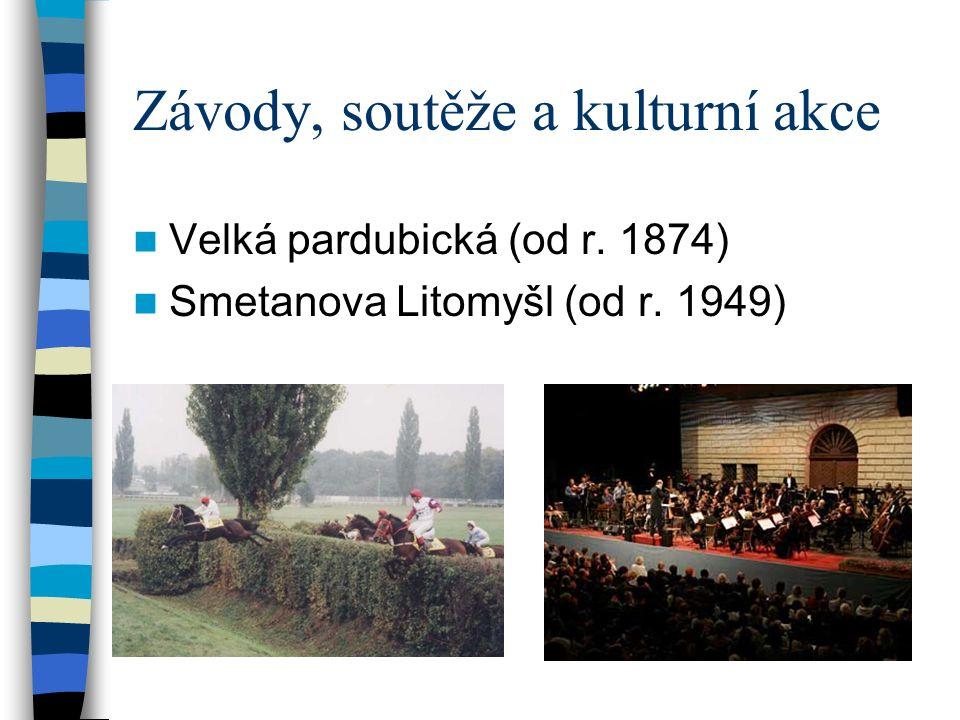 Závody, soutěže a kulturní akce Velká pardubická (od r. 1874) Smetanova Litomyšl (od r. 1949)