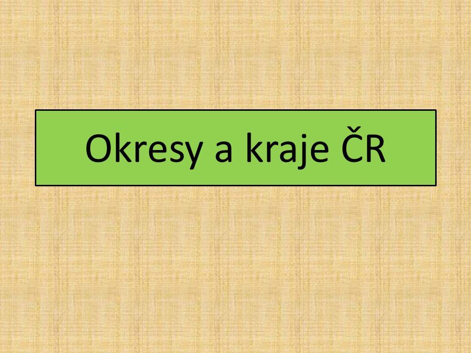 Okresy a kraje ČR