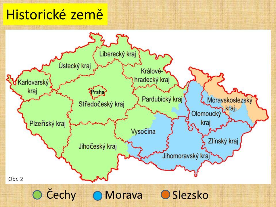 ČechyMorava Slezsko Historické země Obr. 2