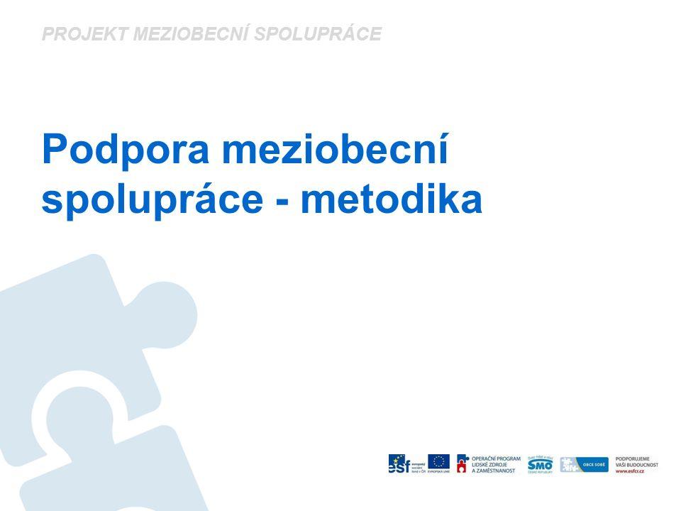 PROJEKT MEZIOBECNÍ SPOLUPRÁCE Podpora meziobecní spolupráce - metodika