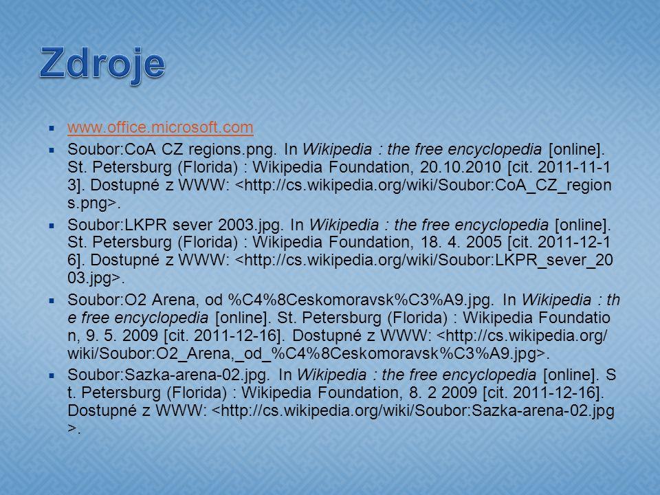  www.office.microsoft.com www.office.microsoft.com  Soubor:CoA CZ regions.png. In Wikipedia : the free encyclopedia [online]. St. Petersburg (Florid
