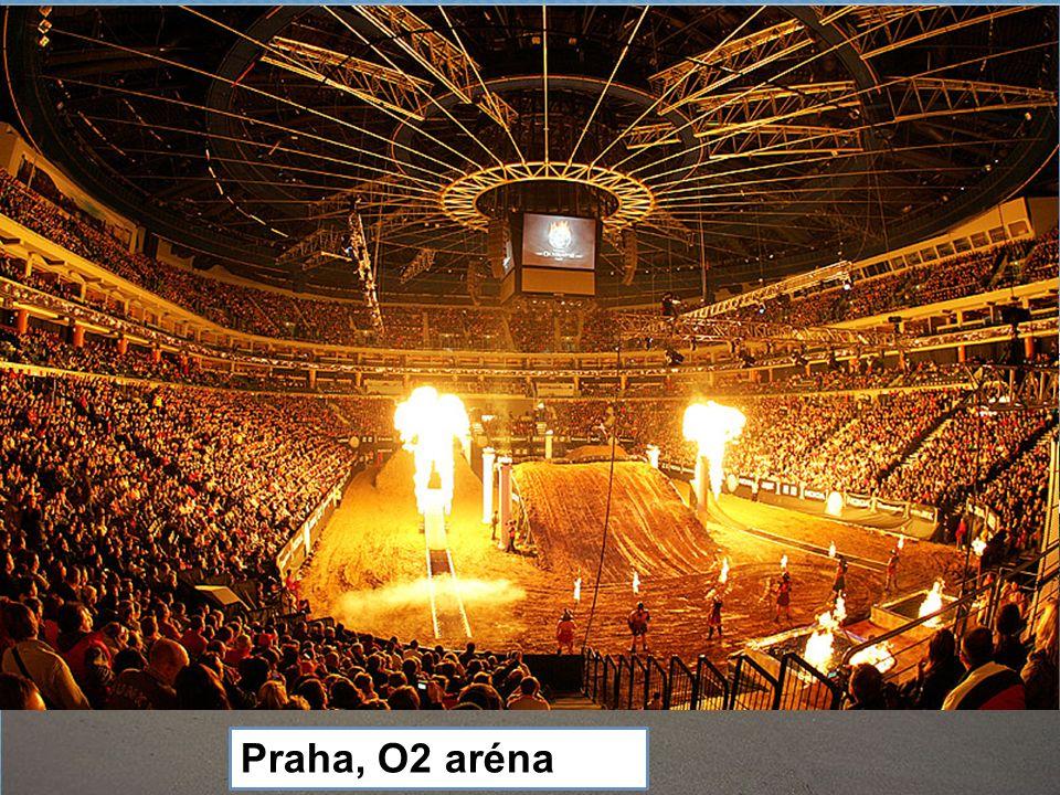 Praha, letiště Ruzyně, největší letiště v České republice Sazka a O2 Aréna konají se zde hlavně hokejové zápasy, koncerty Praha, O2 aréna
