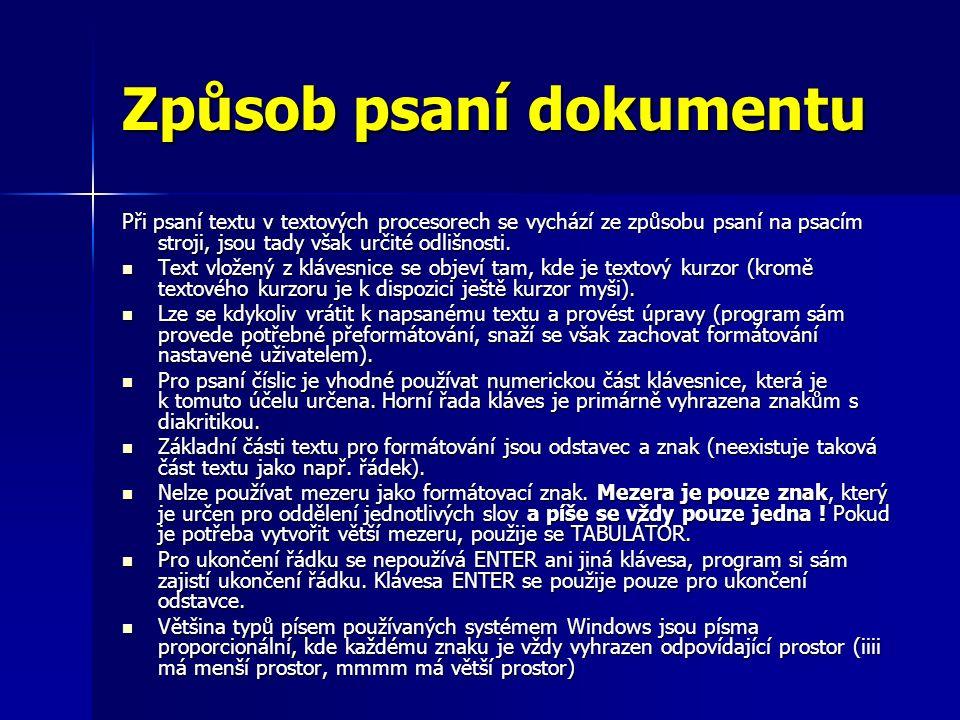 Kartička Proložení znaků Mezery Zde se nastavují mezery mezi znaky.